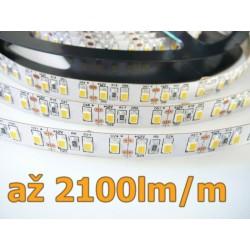 LED pásik 20W, 120 LED, CRI 92, nezaliaty - Denná biela