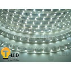 LED pásik 230V, 3.5W, 60 LED, IP67, Studená biela