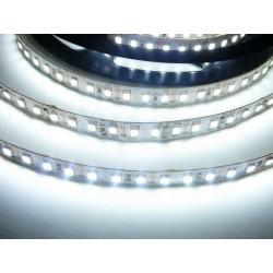 LED pásik 20W, 120 LED, 24V, Studená biela, nezaliaty