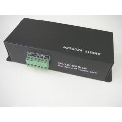 LED DMX ovládač 4 kanály