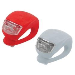 2ks LED svetlo na bicykel 2 LED silikónové