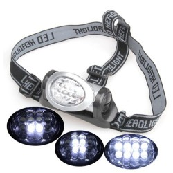 LED čelovka 8 LED 3xAAA batérie