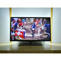 Veľké LED osvetlenie televízora jednofarebné s diaľkovým ovládačom
