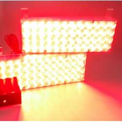 LED stroboskop 2x48 LED červený