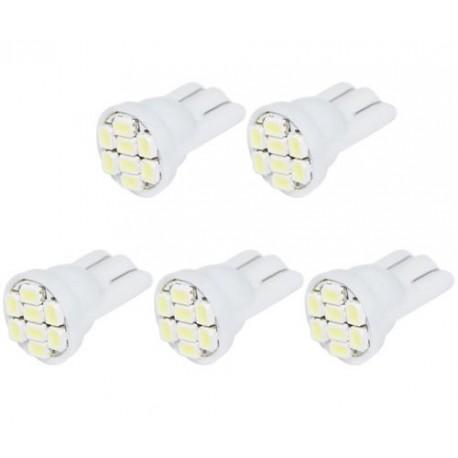LED žiarovka T10 W5W 8 SMD biela