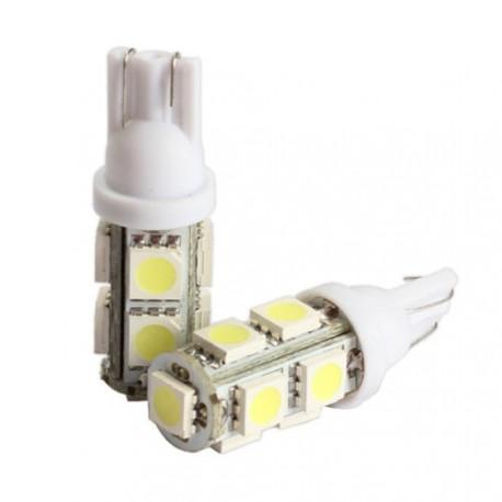 LED žiarovka T10 W5W 9x 3SMD biela
