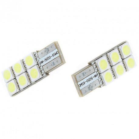 LED žiarovka T10 W5W 6x 3SMD jednostranná biela