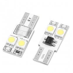 LED žiarovka T10 W5W 4x 3SMD obojstranná biela