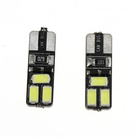 LED žiarovka T10 W5W 6x SMD obojstranná biela