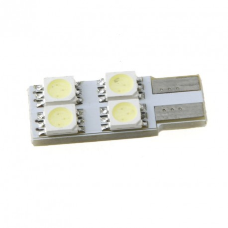 LED žiarovka T10 W5W 4x 3SMD jednostranná biela