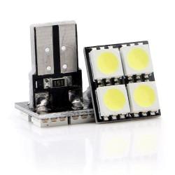 LED žiarovka T10 W5W 4x 3SMD top biela