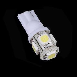 LED žiarovka T10 W5W 5x 3SMD biela