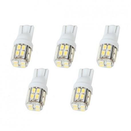 LED žiarovka T10 W5W 20x SMD biela