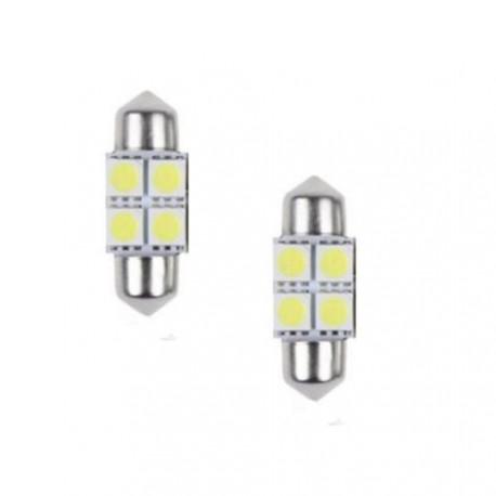 LED sufitka 31mm 4x 3SMD biela