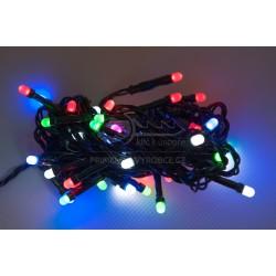 Vánoční LED řetěz - osvětlení - barevné - 50 LED 5 metrů