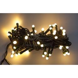 Vánoční LED řetěz - osvětlení - Teple Bílé (retro) - 50 LED 5 metrů