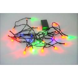 Batériová LED reťaz - Farebná - 30 LED 3,5 metrov