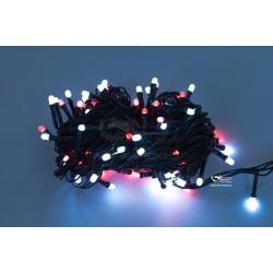 Vianočná LED reťaz - osvetlenie - Červeno / Biele - 100 LED 10 metrov