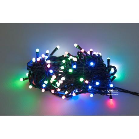 Vianočná LED reťaz - osvetlenie - Farebné - 100 LED 10 metrov