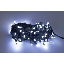 Vianočná LED reťaz - osvetlenie - Biele - 100 LED 10 metrov