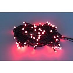 Vianočná LED reťaz - osvetlenie - Červené - 100 LED 10 metrov