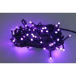 Vianočná LED reťaz - osvetlenie - Fialové - 100 LED 10 metrov
