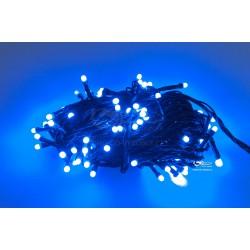 Vánoční LED řetěz - osvětlení - Modré - 100 LED 10 metrů