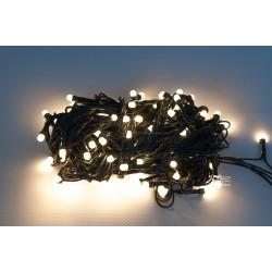 Vianočná LED reťaz - osvetlenie - Teplo Biele (retro) - 100 LED 10 metrov