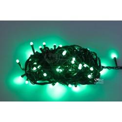 Vianočná LED reťaz - osvetlenie - Zelené - 100 LED 10 metrov
