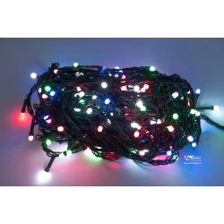 Vianočná LED reťaz - osvetlenie - Farebné - 210 LED 21 metrov