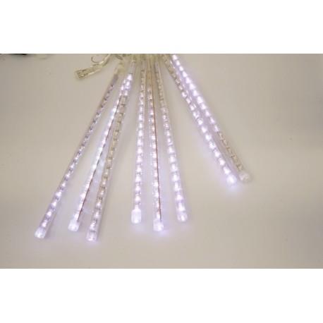 LED cencúle - padajúca vločka - biele s adaptérom