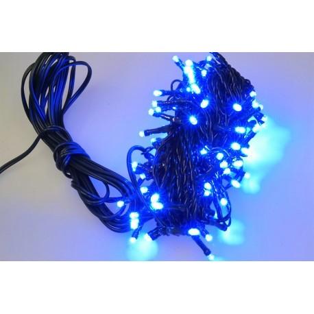 Vonkajšia LED reťaz - osvetlenie - Modré - 100 LED 3 + 10 metrov
