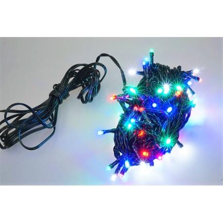 Vonkajšia LED reťaz - osvetlenie - farebné - 100 LED 3 + 10 metrov