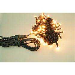 Vonkajšia LED reťaz - osvetlenie - Teplé biele - 100 LED 3 + 10 metrov