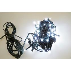 Vonkajšia LED reťaz - osvetlenie - Biele - 100 LED 3 + 10 metrov