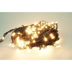 Vianočná LED reťaz - osvetlenie - Teplé biele - 180 LED 18 metrov
