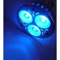 Farebná LED žiarovka E27 modrá