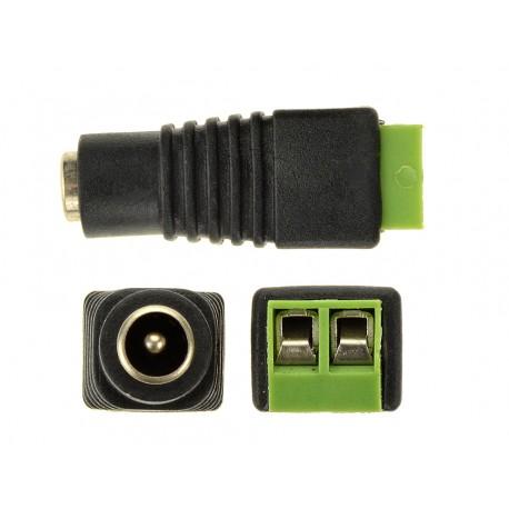 DC konektor napájací so svorkovnicou samica