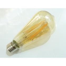 Oválna LED žiarovka E27 4W FILAMENT teplá biela