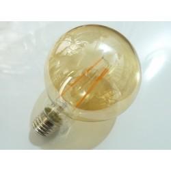 Guľatá LED žiarovka E27 4W FILAMENT teplá biela