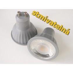 Stmievateľná LED žiarovka GU10 7W 60°