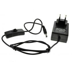 LED zdroj 12V 24W s vypínačom čierny