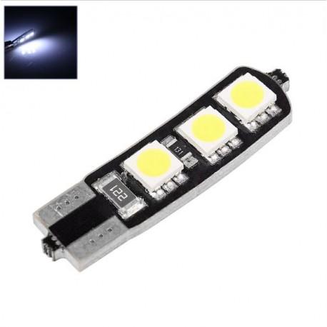 LED žiarovka T10 W5W 6x 3SMD obojstranná biela