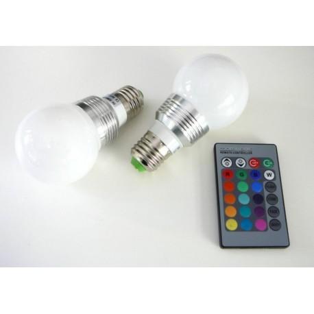 LED žiarovka RGB16-2 E27 - 360°