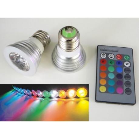 LED žiarovka RGB16-2 E27 60°