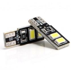 LED žiarovka T10 W5W 4x SMD obojstranná biela