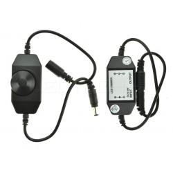 Manuálny LED ovládač stmievač M1 pre jednofarebné LED pásiky čierny