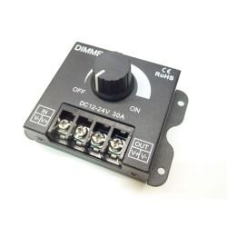 Manuálny LED ovládač stmievač M6 pre jednofarebné LED pásiky