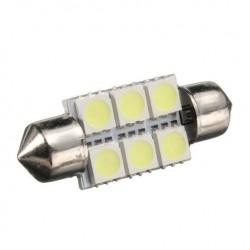 LED sufitka 39mm 6x 3SMD biela