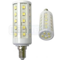 LED žiarovka 6.5W, E14, oválna, teplá biela